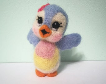 Bluebird of Happiness / Felted Bird / Soft Sculpture