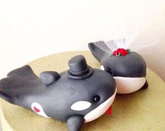Beluga Whale Wedding Cake Topper handmade