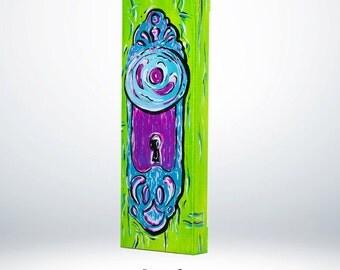 Door knobs, Paintings, Doors, Acrylic paint, Acrylic art, Painting, Abstract art, Abstract paintings, Whimsical Art, knobs door