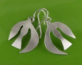 Handmade Silver Dove Earrings, Inspired by Matisse