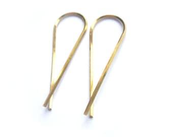 Threader Earrings - Minimalist Earrings - 19g Earrings - Modern Earrings - Minimal Earrings