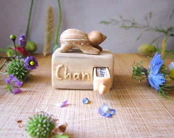 Personalized miniature drawer, wood carving, wood box, wood sculpture, Personalized Gifts, miniature carving, animal carving, Birthday gift