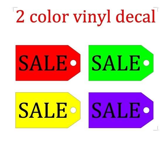 Sale tag sign / discount sale / vinyl sign / sale sign / percent sale / store sale / SALE % signage / vinyl letters