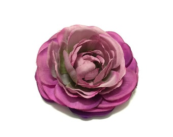 Purple and Pink Ranumculus - Artificial Flower, Silk Flower, Wedding, Flower Crown
