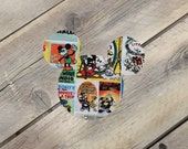 Mickey Mouse Inspired Iron On Applique Poster/Comic