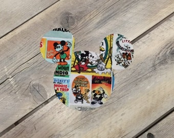 Mickey Mouse Inspired Iron On Applique Poster/Comic DIY