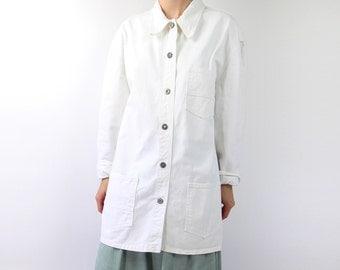 VINTAGE White Denim Jacket