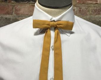 Vintage Western Skinny Bow Tie, Maverick Clip on Bow Tie, Ormond Hardy Yellow Bow Tie, Western Bow Tie