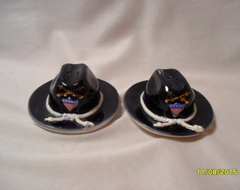 Civil War or Cavalry Hat Salt and Pepper Shakers Parksmith Corp. Japan