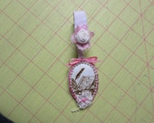 Shabby Chic Altered Spoon Ornament
