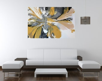 Large abstract painting, 4' x 6' original acrylic painting