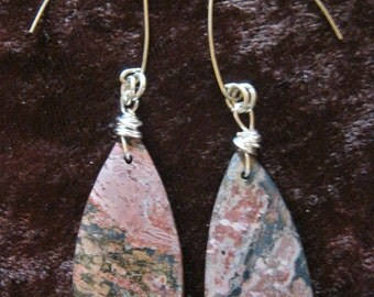 Leopardskin Jasper Earrings