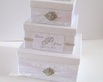 Wedding Gift Envelope Suggestions : laced wedding card box custom card box money box wedding card holder ...