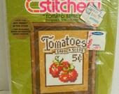 Jiffy stitchery Tomato Seeds #935 Counted Cross Stitch Opened