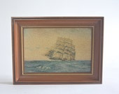 Vintage Clipper Ship Print, Framed