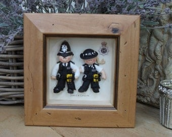 DOUBLE Character Frames, Custom Made Polymer Clay Professions, Sport etc...
