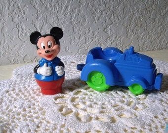 Vintage Mickey Mouse with Tractor.