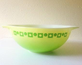 Vintage, 1960, Rare, Green, Cinderella, Pyrex, Promotional, 444, Mixing Bowl