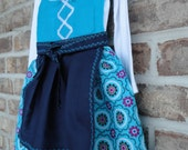 Baby blue dirndl with embroidered apron