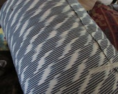 Guatemalan Ikat in White and Blue Blitz