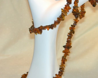 Vintage Baltic Amber Nugget Necklace Hippie Boho