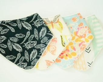 Baby Drool Bib // Bandana Bib // Choose your Fabrics