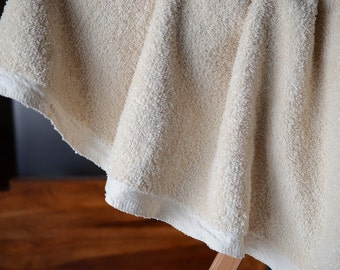 "Terry Cloth Fabric by the yard. Organic cotton fabric by the yard. Unbleached terry cloth fabric. Make Terry Robes, Terry Towels. 62"" wide."