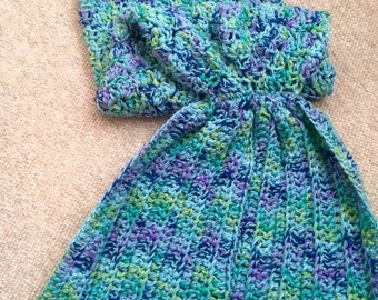 Mermaid Tail Blankets, On Sale - Ready to Ship, Child Size, Aqua Mermaid Blanket, Mermaid Tail, Mermaid Fin, Afghan, Kids Blankets