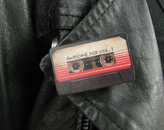 Guardians of the Galaxy inspired Mixed Tape Brooch