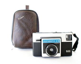 Vintage Kodak Instamatic X-15 Camera w/ Case