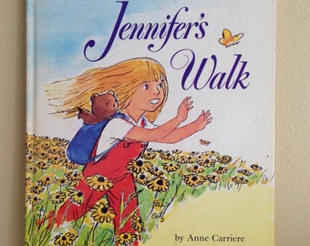 1973 A Golden Book Jennifer's Walk by Anne Carriere Pictures by Arthur Getz