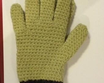 Alpaca Gloves - Green