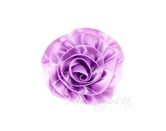 Light Purple Rose Ruffle Silk Flowers 2 inch-Light Purple Flower, Light Purple Hair Flower, Light Purple Silk Flower, Purple Flower For Hair