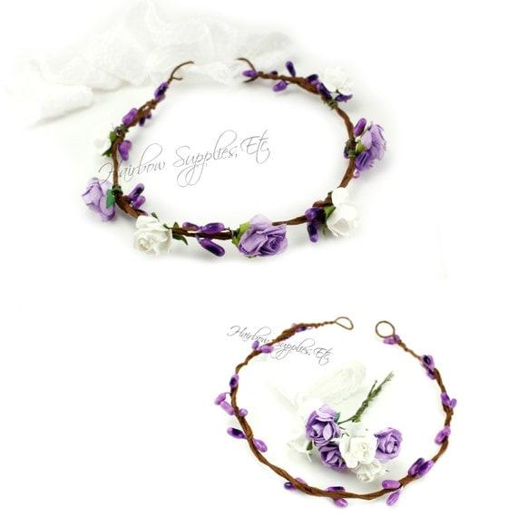 DIY Purple Floral Crown Kit DIY Flower Crown Wedding Flower