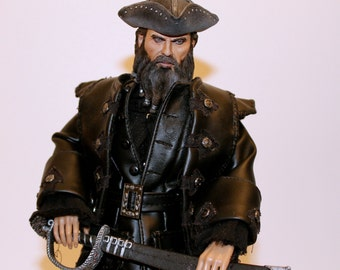 One of A Kind 12 inch Black Beard action figure. Very Rare, Sculpted by Rocco Tartamella