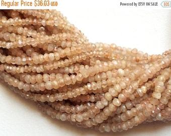 55% ON SALE SunStone - Sunstone Faceted Rondelle Beads, Sunstone Micro Faceted, Oregon Sunstone, Sunstone Jewelry, Orange Sunstone, 4-4.5mm,
