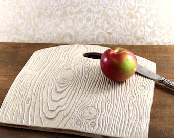 Cheese Board - Ceramic Wood Grain Design