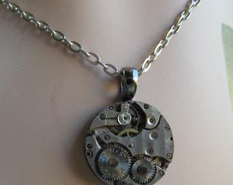 Steampunk Watch Movement Necklace Pendant A 18