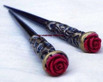 Magical Wooden Hair Sticks~Ready to Ship Pair