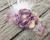 Lavender fairy dust flower headband