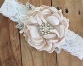 Little lady flower headband by cozette couture