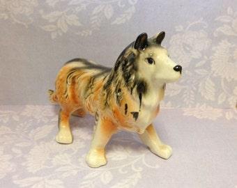 Vintage German Shepard Dog Figurine - 1950s Dog Figurine - Dog Figure