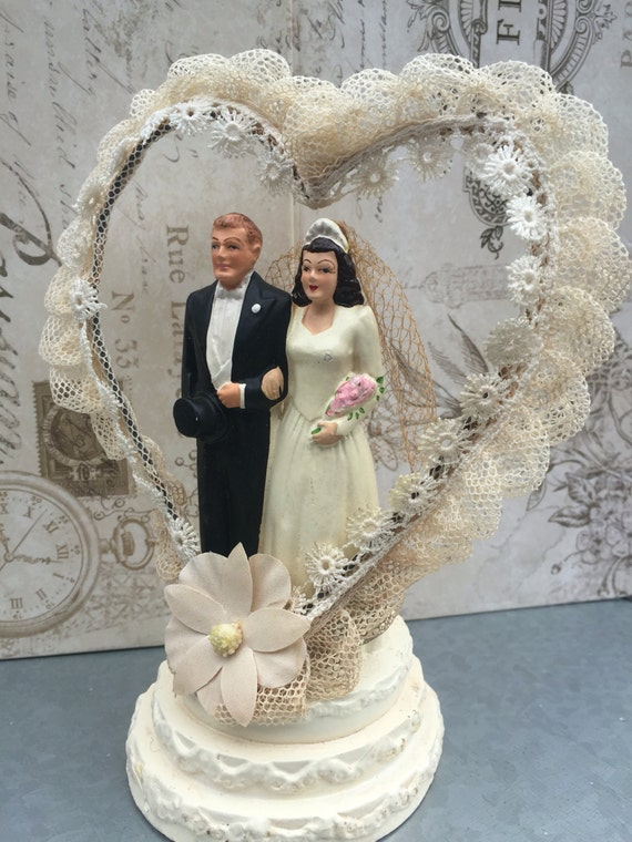 wedding cake toppers central coast vintage chalkware wedding cake topper 1940 s coast 26436