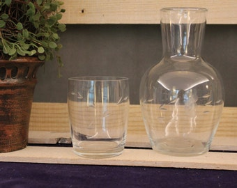 Princess House Water Carafe & Glass