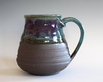 LARGE Mug, 22 oz, unique coffee mug, ceramic cup, handthrown mug, stoneware mug, pottery mug, ceramics and pottery
