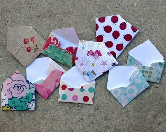 Tiny Envelopes - Tooth Fairy Ideas - Tooth Fairy Letters -  Little Valentines  - Little Love Notes - Tooth Holder - Baby Book - Elf Ideas