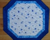 Quilted Winter Stars Table Topper
