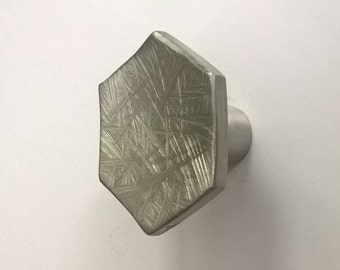Hexagon Cabinet Knob with Satin Finish-Frosted