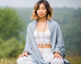Hemp and Organic Cotton Yoga Meditation Shawl