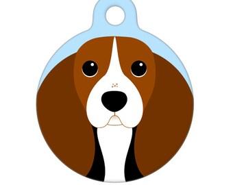 Pet ID Tag - Basset Hound Pet Tag, Dog Tag